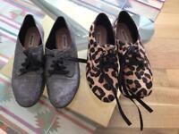 2 pairs ladies Dune shoes