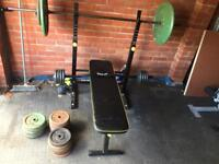 Barbell and curl bar