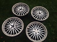 19 bmw alloy wheels rims 5x120 1 3 5 6 7 series msport deepdish rims bbs 18