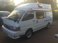 NOW SOLD - Toyota Hiace Hi -Top Campervan 1992 (K-Reg) Diesel 2.4 Auto with Overdrive (2 berth)