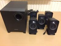 Creative Inspire T6160 Desktop or Laptop 5,1 Home Cinema Speakers, Fully Working Condition.