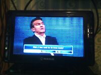 NIKKAI 10.5 inch TV .TFT LCD COLOUR DVB.USB READER MONITOR HD DVB-T
