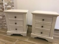 2 white solid bedside cabinates