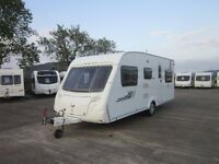 SWIFT CHARISMA 565 6 BERTH TRIPLE BUNK CARAVAN WITH AWNING ANDERSON CARAVAN SALES