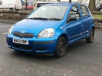 TOYOTA YARIS 1.3 * 5 DOOR * PETROL * LONG MOT * 1 OWNER FROM 2003 * PX * NATIONWIDE DELIVERY *