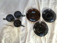 3x Espresso Cups and Saucers