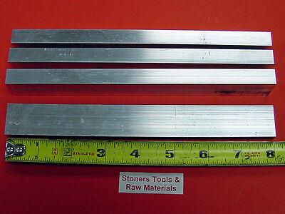 4 Pieces 12 X 1 Aluminum 6061 Flat Bar 8 Long .500 T6511 New Mill Stock