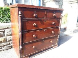 Chest of drawers, 41 inch x 38 inch free to collector