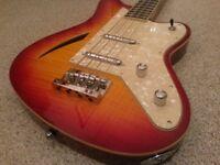 Eastwood Surfcaster Bass Guitar Cherry Burst NEW!! rrp £885