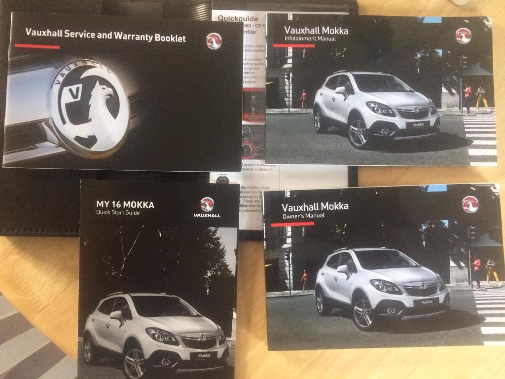 VAUXALL MOKKA OWNER HAND BOOK,IMMACULATE CONDTION