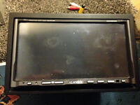 kenwood double din 7 inch motorised dvd touch screen