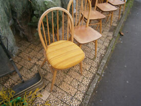 SINGLE ERCOL DINING CHAIR 6 BAR HOOP BACK DINING CHAIR IN YEOVIL