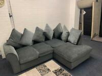 Beautiful grey SOLD- corner sofa delivery 🚚 sofa suite couch furniture