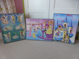 Disney princess & fairy framed pictures