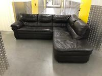 Leather L shape sofa, Free delivery