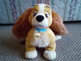 Lady and the tramp plush soft toy official disney store product 30 cm 12 inches