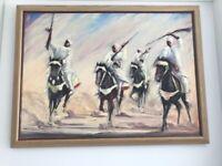 2 Beautiful Arabian Horsemen - original oil paintings