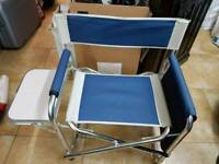 Camping chair with drop leaf side table FOLDABLE