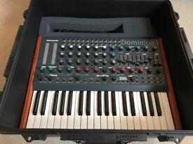 MFB Dominion 1 keyboard synthesiser + Peli Case