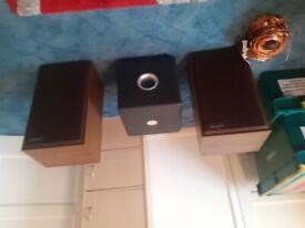Focal subwoofer, scott S177 speakers