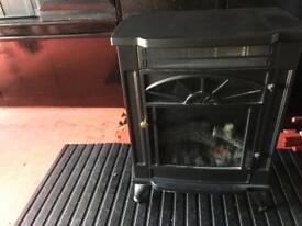 Electric heater radiator fire