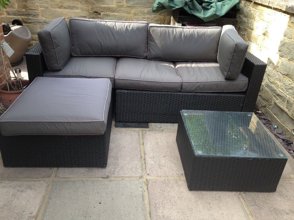 L shaped garden sofa redhill