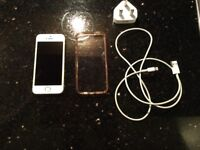 iPhone 5s, unlocked, 16gb white and gold in excellent condition