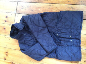 Boys (could be unisex) blue Barbour jacket aged 5.