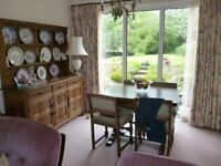Vintage Oak Extending Dining Table and four chairs