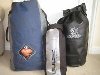 Three dry bags for sale