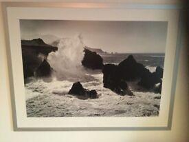 Large Waves Picture Framed