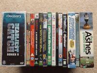 DVDs Job Lot Bundle Men's Interest Football, Fishing, Rugby, Cricket, etc.