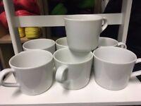 Seven IKEA mugs
