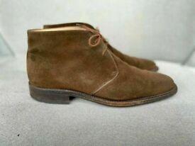 Salvatore Ferragamo mens brown suede desert boots, size 9.5, rrp £570