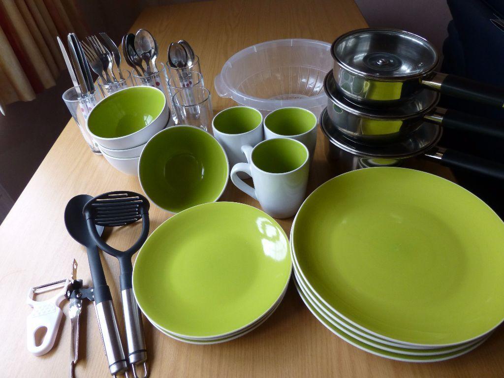 Kitchen set ideal starter set for university starter for Kuchen starterset