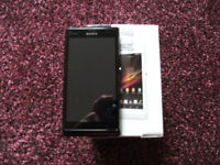 SONY XPERIA L C2105 MOBILE PHONE STARRY BLACK. BOX, CHARGER, BATTERY. RESET TO FACTORY DEFAULT