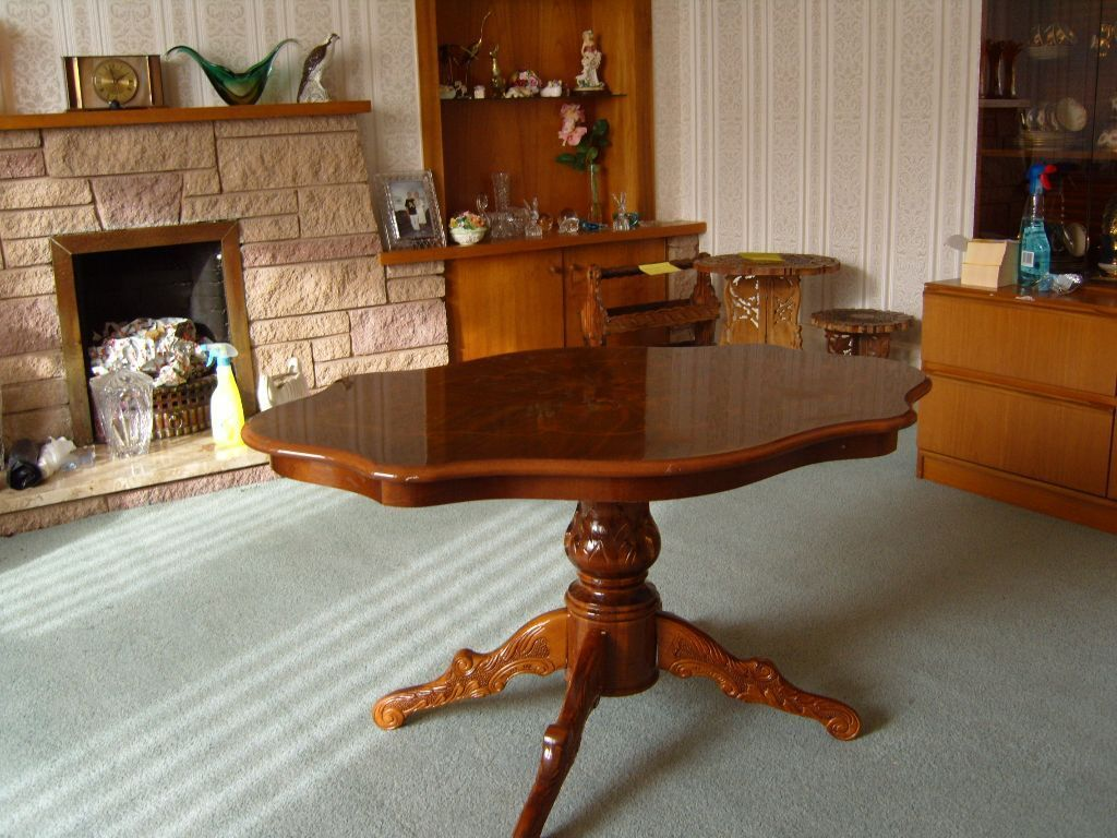 Italian Inlaid Wood Coffee Table