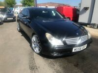 2006 Mercedes-Benz CLS 3.0 CLS320 CDI 7G-Tronic 4dr FULL BLACK LEATHER+SAT/NAV