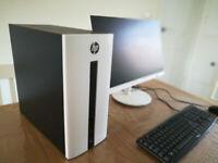 HP TOWER DESKTOP PC - QUAD CORE, 8GB, SSD, DEDICATED GRAPHICS, WIFI