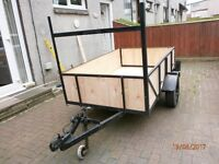 6ft 6in x 4ft TRAILER NEW WOOD STRONG CHASSIS