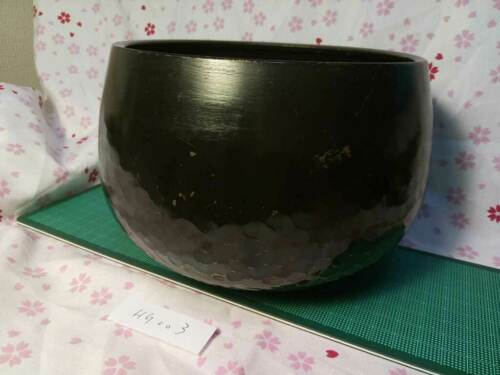 """6.181"""" Japanese Vintage Buddhist Copper Bell Hand-pounded Forged HG003"""