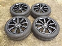 """NEW 21"""" GENUINE RANGE ROVER VOGUE AUTOBIOGRAPHY ALLOY WHEELS AND GOODYEAR TYRES"""