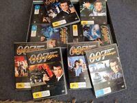Box set collection of James Bond DVDs