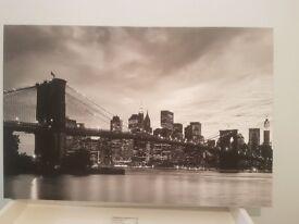 New York Sky Scene Canvas