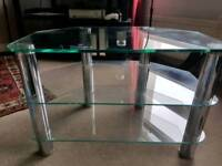 John Lewis glass & chrome TV stand