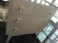 1950s Formica Top Chest of Drawers