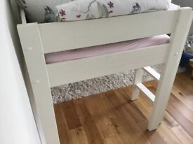 Stompa High, bunk bed, single, white wood