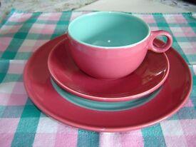 Unusual Italian Cappuccino or Tea Set for 4 or 6
