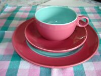 Unusual Italian Cappuccino or Tea Set for 4 or 6