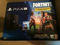 PS4 Pro 1 TB, With Fortnite Game Bundle, Brand New.